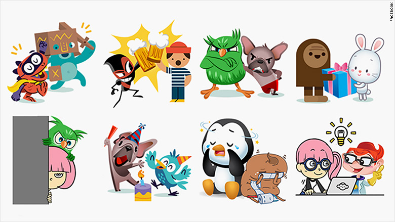 facebook friends day stickers