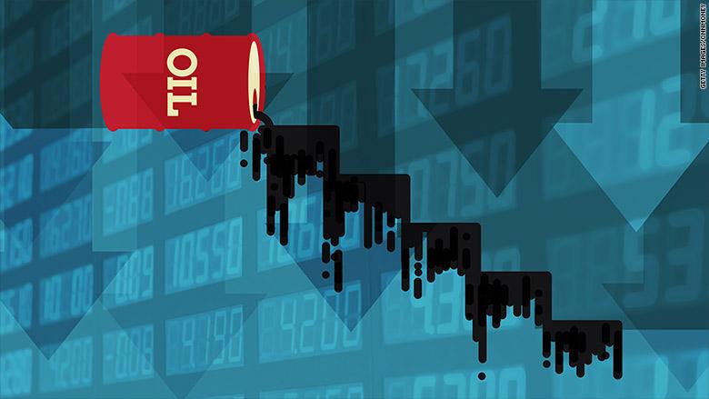 Oil prices crash below $27 a barrel