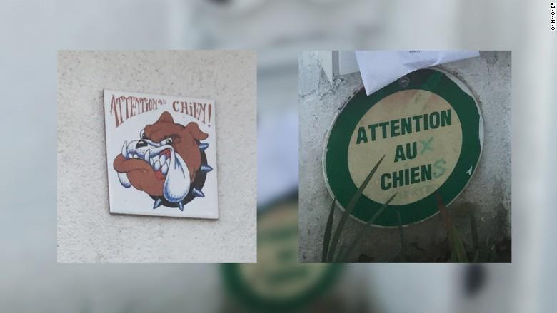 maria duval 5 beware dog sign