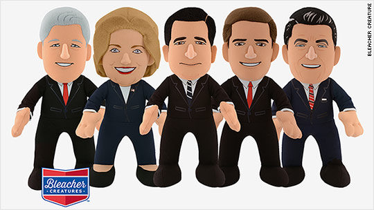 """Donald Trump and Hillary Clinton 2016 Presidential Candidates 10/"""" Plush Set NEW"""