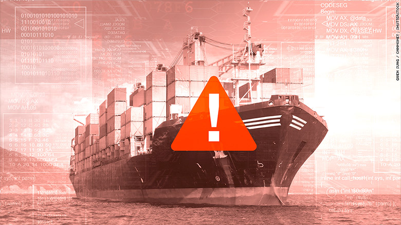 hacking cargo ship
