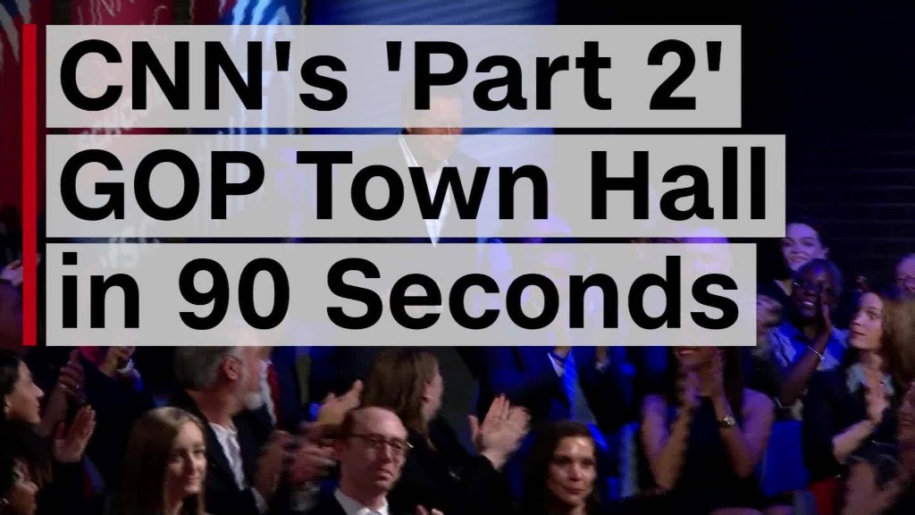 CNN's 'Part 2' GOP Town Hall in 90 seconds