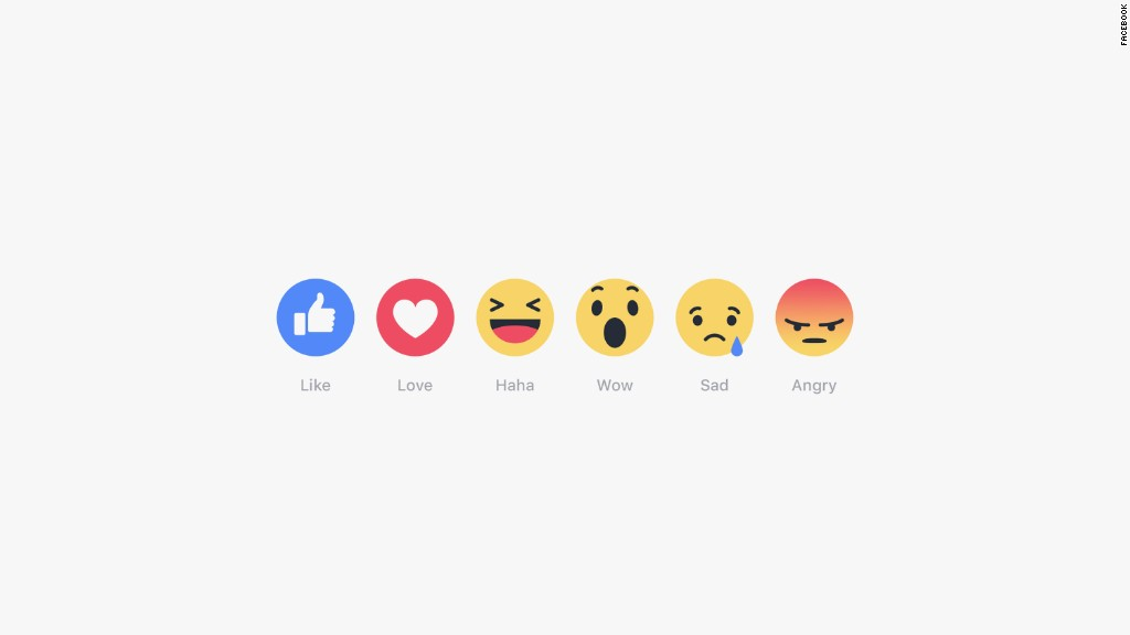 You can now like, love, and frown at posts on Facebook