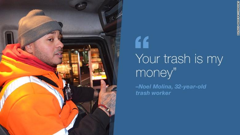 A Man Throws Rubbish Bag Onto Pile Of Garbage As French Striking Cgt