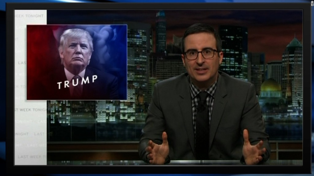 John Oliver takes on Donald Trump over white supremacist