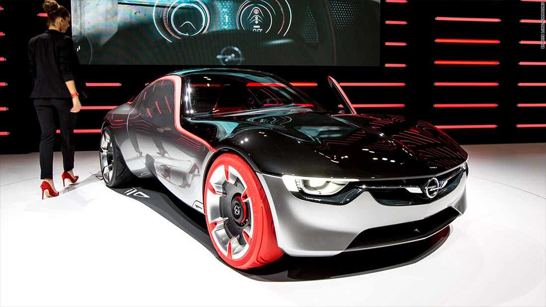 opel gt concept cool cars from the 2016 geneva motor show cnnmoney. Black Bedroom Furniture Sets. Home Design Ideas
