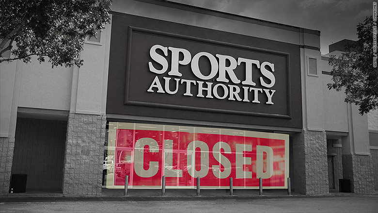 sports authority closed