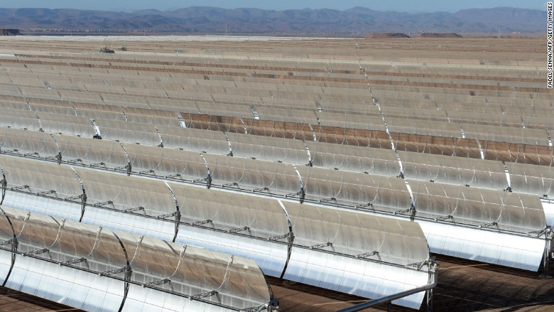 Morocco is producing solar power at night