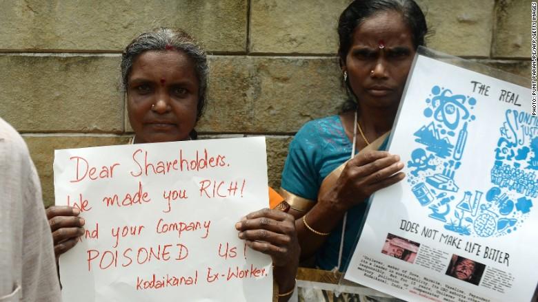 Unilever mercury protest