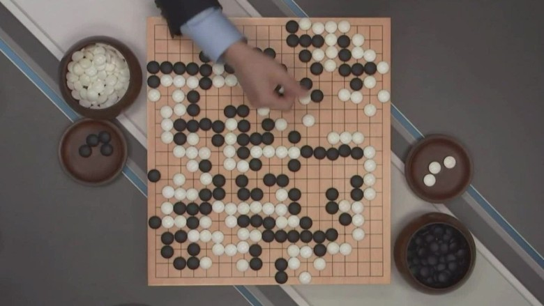 A Google computer victorious over the world's 'Go' champion