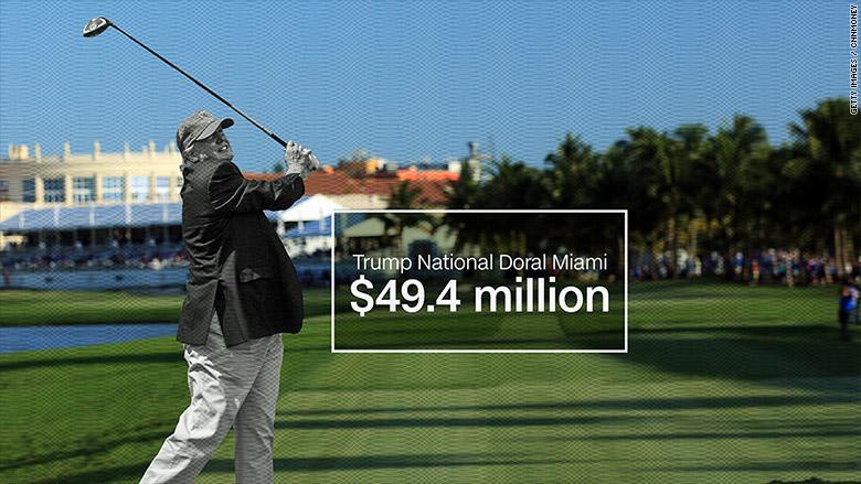trumps money golf