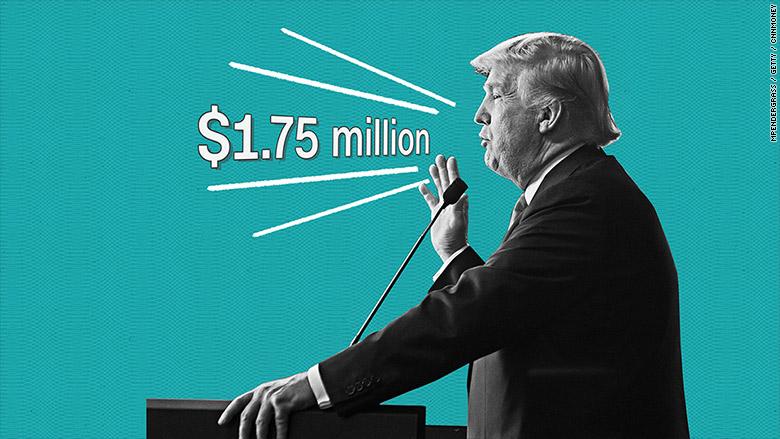 trumps money speaking
