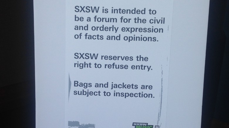 sxsw summit sign