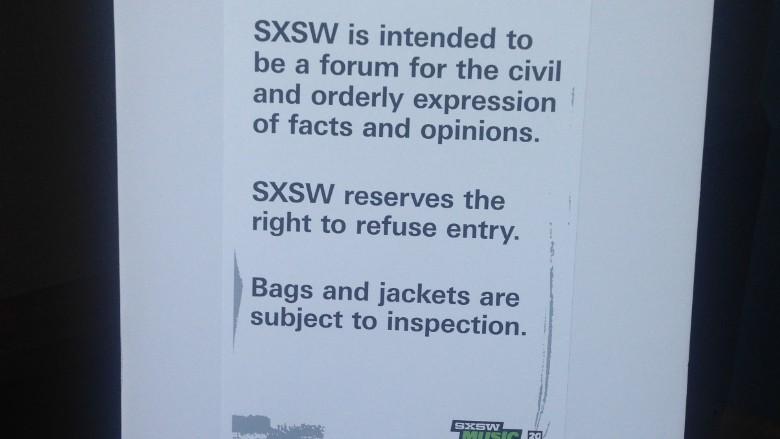 sxsw summit sign
