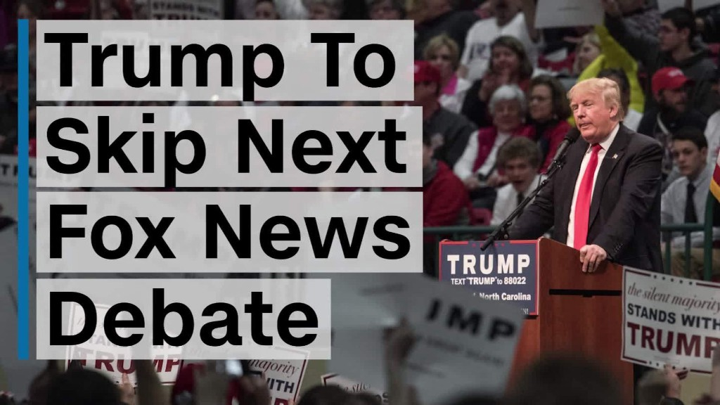 Donald Trump is skipping another Fox News debate
