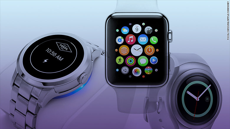 smartwatches fossil apple samsung