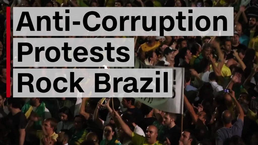 Anti-corruption protests rock Brazil