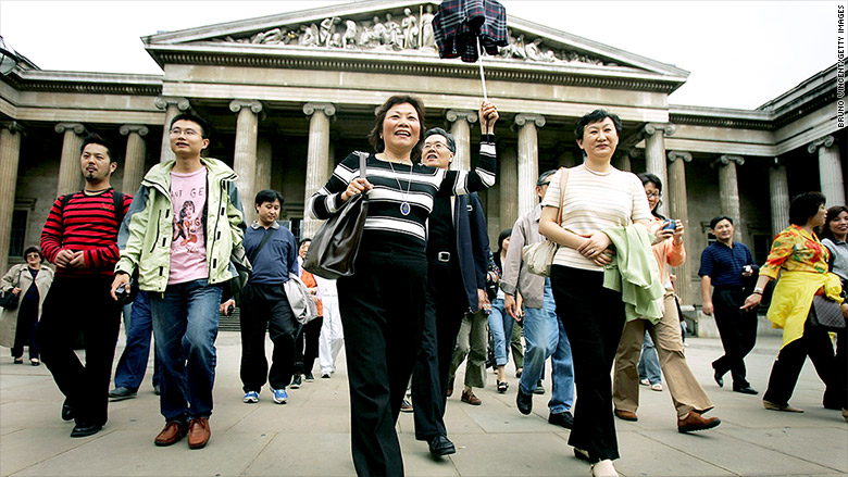 chinese tourists europe