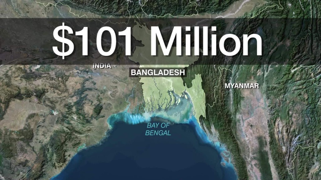Bangladesh central bank hit by $101 million heist