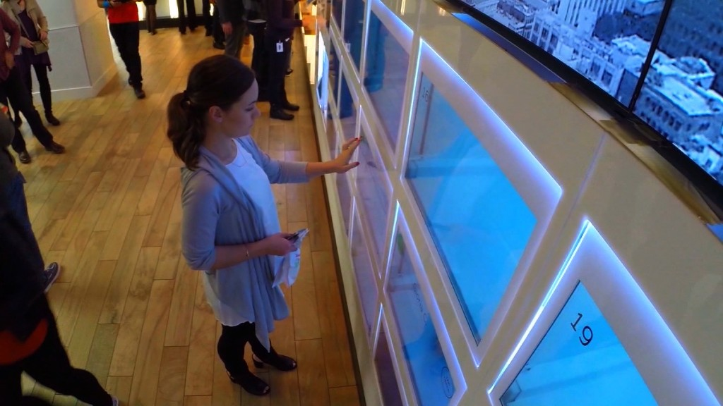 High-tech restaurant of the future