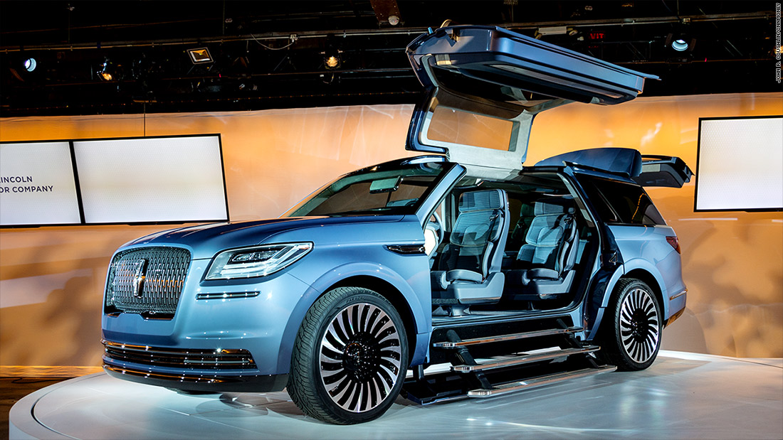 lincoln navigator concept cool cars from the new york auto show cnnmoney. Black Bedroom Furniture Sets. Home Design Ideas