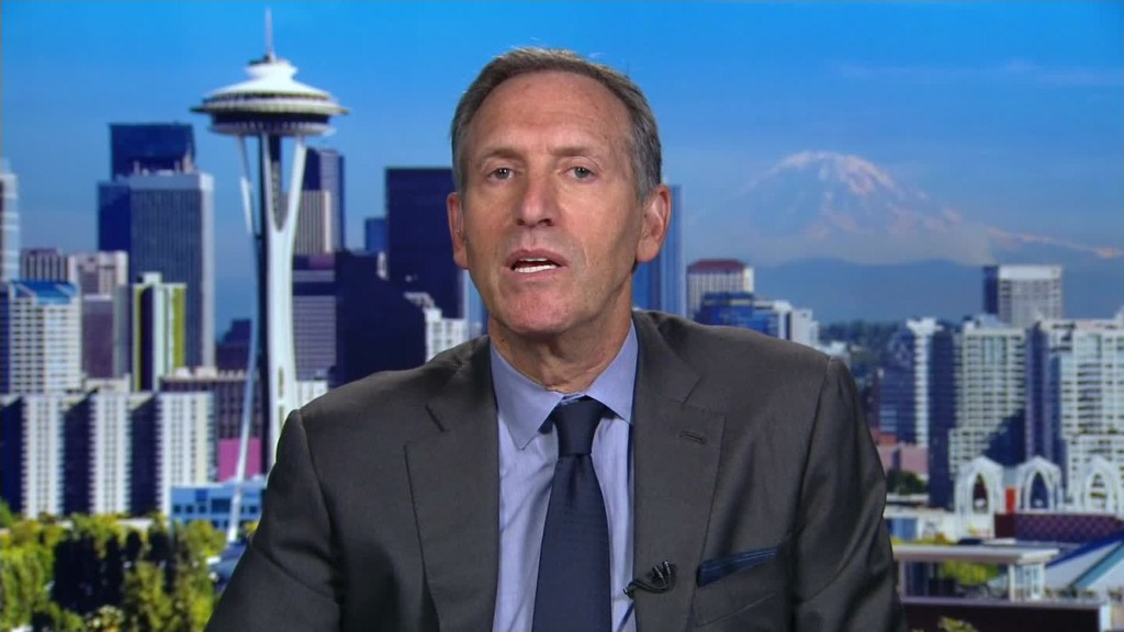 America's political climate is a 'tragic situation,' says Starbucks CEO