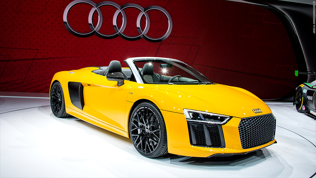 Audi R8 Spyder Cool Cars From The New York Auto Show Cnnmoney
