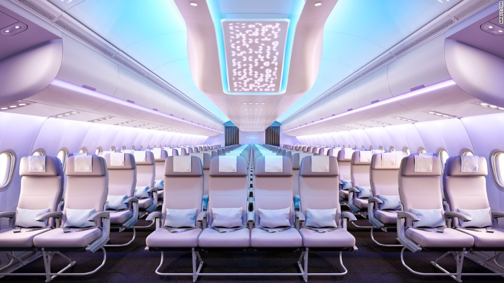 New Airbus puts focus on cabin space