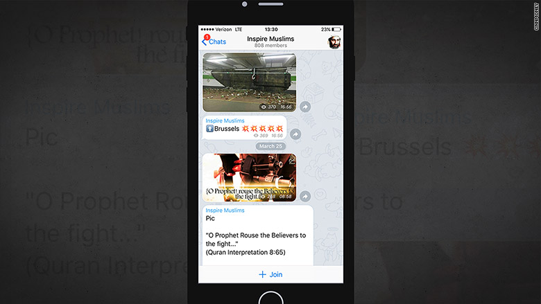 encrypted chatting apps isis