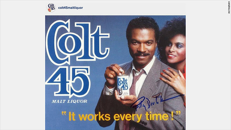 Lando Calrissian wants you to drink Colt 45