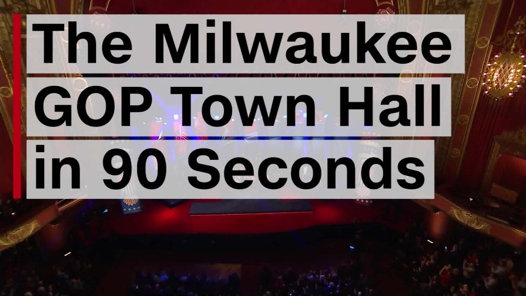 The Milwaukee GOP town hall in 90 seconds