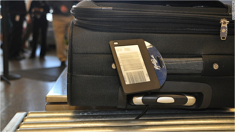 Alaska Airlines Is Testing An Electronic Luggage Tag