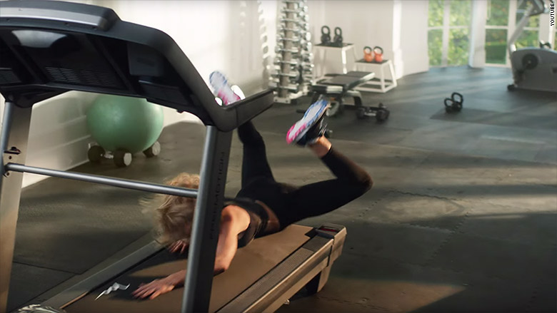 taylor swift treadmill fall