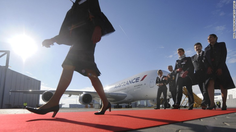 air france plane crew aircraft