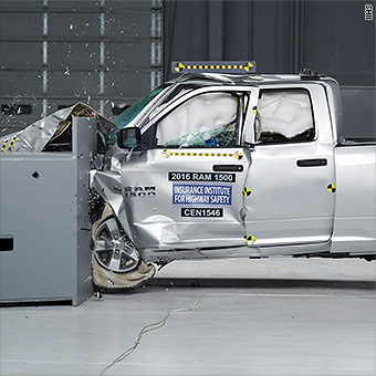 In The Crash Test Door Frame Instrument Panel And Steering Column Ram Trucks Were Pushed Back Toward Driver Crew Cab