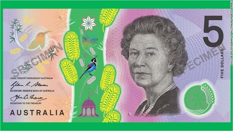 australia $5 banknote