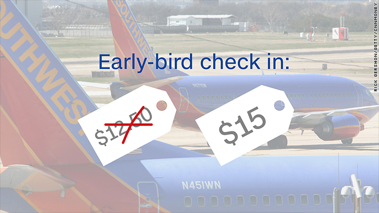 Southwest Increased Its Earlybird Check In Fee