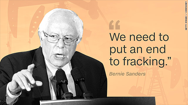 Image result for bernie sanders fracking