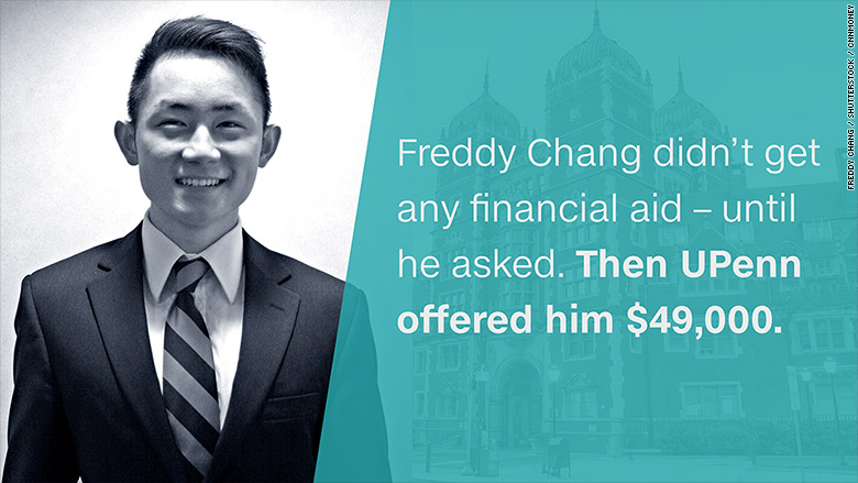 financial aid freddy chang