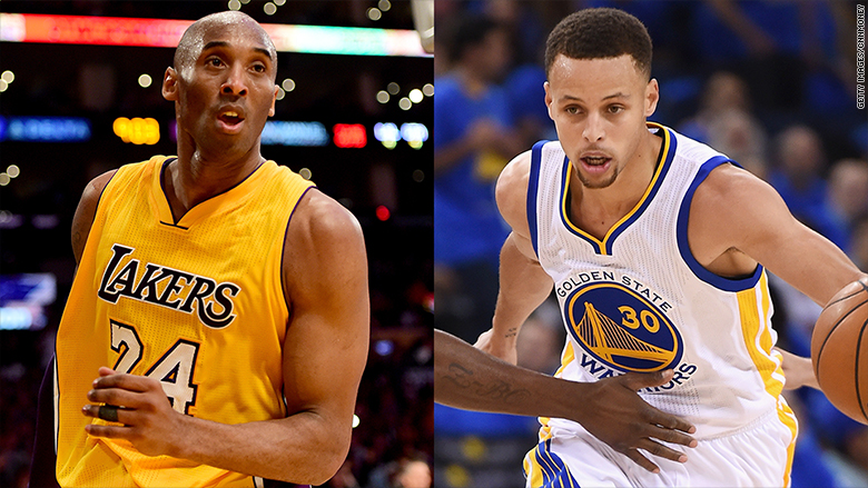 kobe bryant steph curry april 13