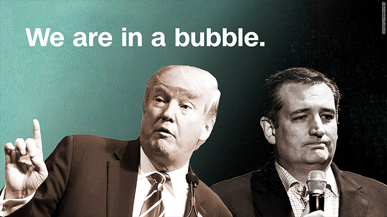 trump cruz bubble