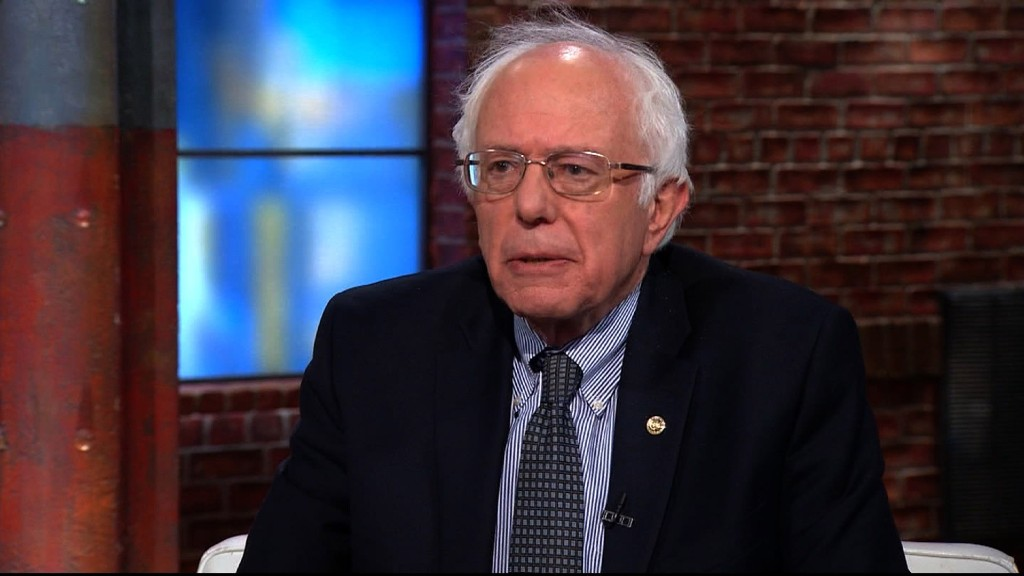 Bernie Sanders: We can create wealth without Wall Street