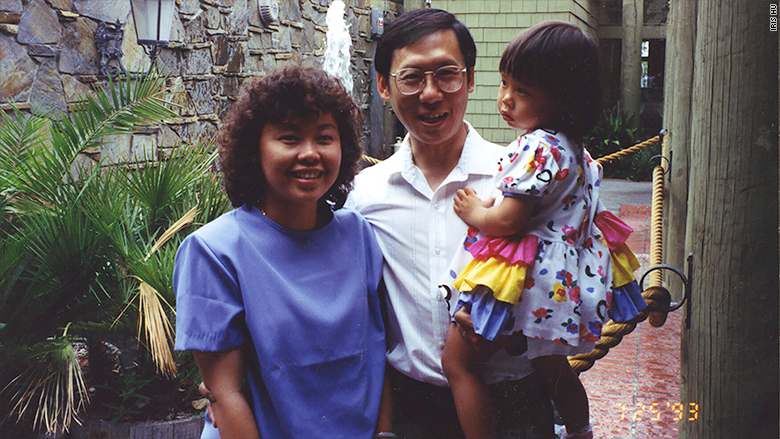 iris hu with parents
