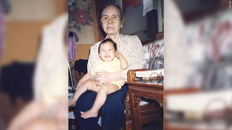 iris hu with grandmother