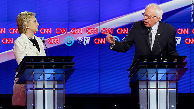 hillary clinton bernie sanders CNN debate brooklyn