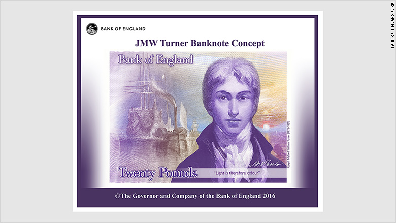 uk banknote jmw turner