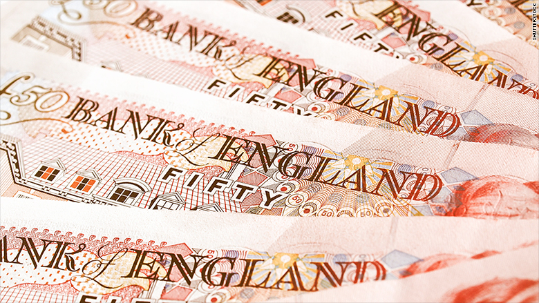 british pounds banknotes money