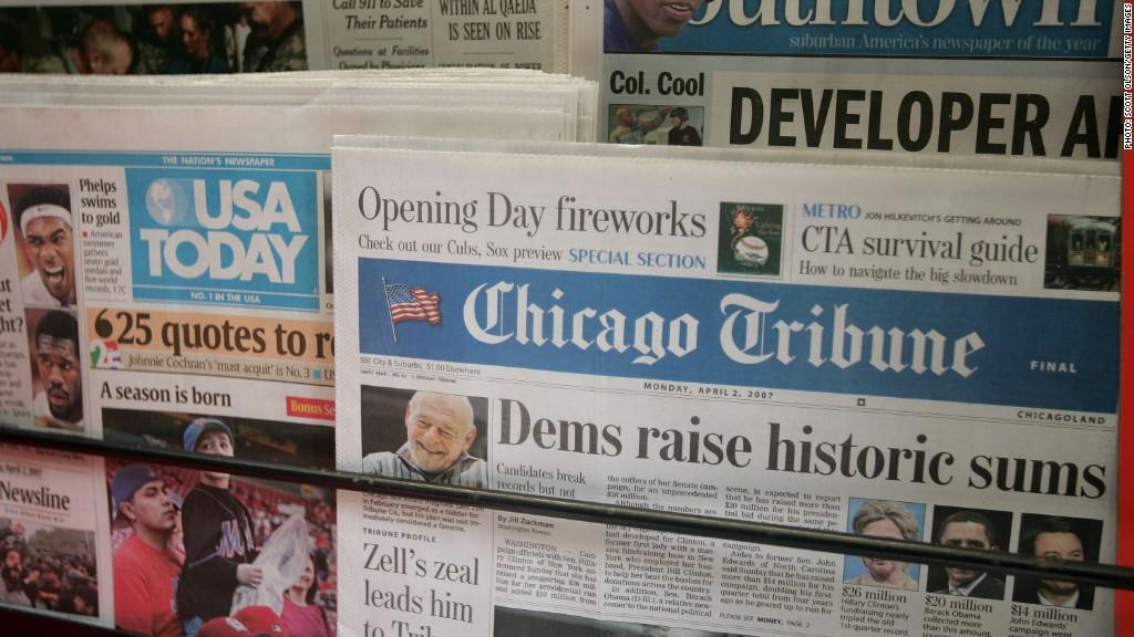 Why does Gannett want to buy Tribune Publishing?