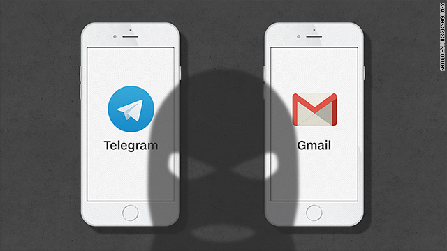 Terrorists prefer to chat on Telegram and email with Gmail