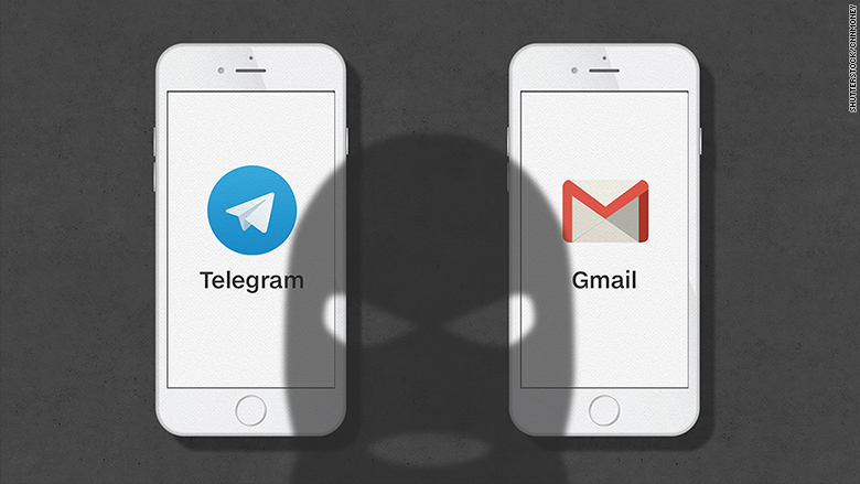 terrorists telegram gmail